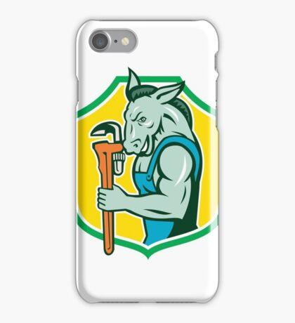 Donkey Plumber Monkey Wrench Shield Retro iPhone Case/Skin