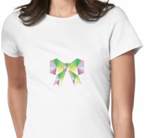 Bow-Rain-Bow Origami Womens Fitted T-Shirt