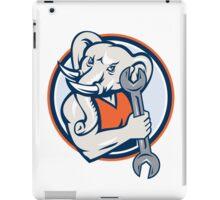 Elephant Mechanic Spanner Mascot Circle Retro iPad Case/Skin