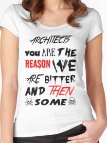 architects you are the reason Women's Fitted Scoop T-Shirt