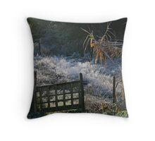 Frosted Garden Throw Pillow