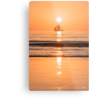 Sailing into the Sunset Metal Print