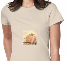 Cozy Robin Womens Fitted T-Shirt