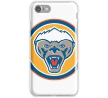 Honey Badger Mascot Head Circle Retro iPhone Case/Skin