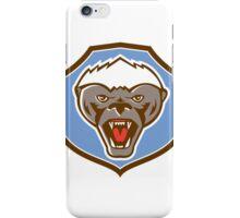 Honey Badger Mascot Head Shield Retro iPhone Case/Skin