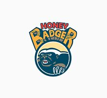 Honey Badger Mascot Claw Circle Retro Unisex T-Shirt