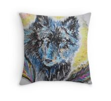 People of the Wolf Throw Pillow