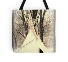 ~ Almost a Dances With Wolves Winter Camp ~ Tote Bag