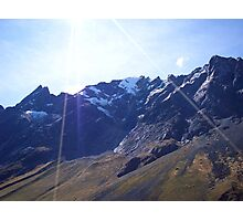 Glaciers in the Andes Photographic Print