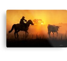 Sunset Muster Metal Print