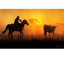 Sunset Muster Photographic Print