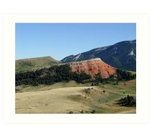 Pipestone Butte Art Print