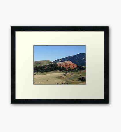 Pipestone Butte Framed Print