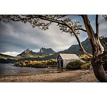 The Dove Lake Boathouse Photographic Print
