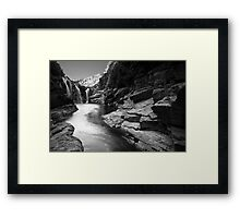 Lennard Gorge in Monochrome Framed Print
