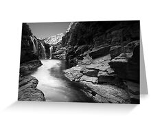 Lennard Gorge in Monochrome Greeting Card