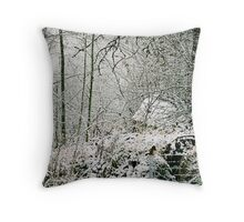 Bird on the wire - Winter series Throw Pillow