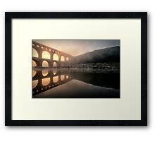 With a Golden Trim Framed Print