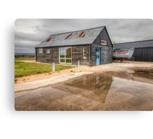 Boat House Reflection Canvas Print