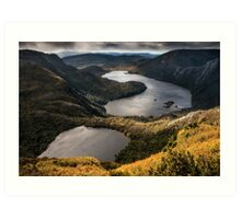 The Lakes at the Top of the World Art Print