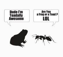 Dude Im Toadally Awesome Black Toad & Ant T-Shirts and Sticker Kids Clothes