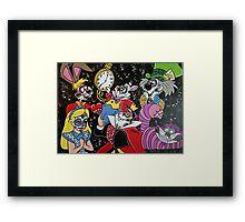 Alice in Wonderland Sugar Skull Framed Print
