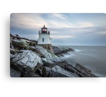 Castle Hill Lighthouse at Sunset Metal Print