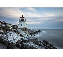 Castle Hill Lighthouse at Sunset Photographic Print