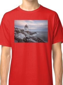 Castle Hill Lighthouse at Sunset Classic T-Shirt