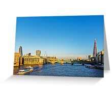 Thames Riverscape, London England Greeting Card