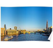 Thames Riverscape, London England Poster