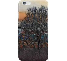 Abstract Sunset Tree iPhone Case/Skin