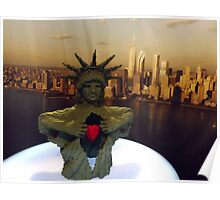 Lego Statue of Liberty, Art of the Brick Exhibition, Discovery Times Square, New York City, Nathan Sawaya, Artist Poster