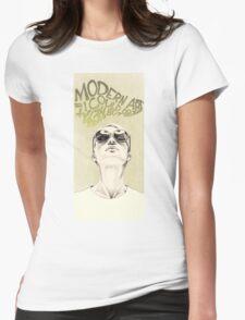 Modern art portrait Womens Fitted T-Shirt