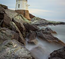 Castle Hill Lighthouse at Sunset by Joshua McDonough Photography