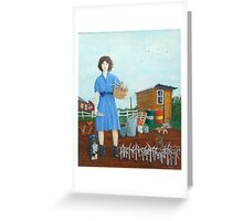 Wind Farmer rural girl Greeting Card