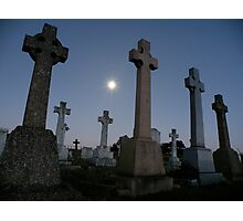 Moonlight in the graveyard Photographic Print