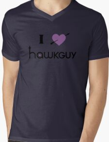 I heart Hawkguy (purple variant) Mens V-Neck T-Shirt