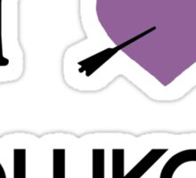 I heart Hawkguy (purple variant) Sticker