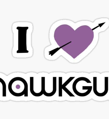 I heart Hawkguy (purple variant) Sticker