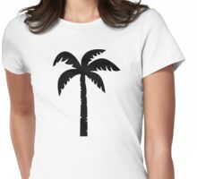 Black palm Womens Fitted T-Shirt