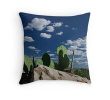 Cacti Del Cielo Throw Pillow