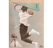 black hasidic jews playing basketball Photographic Print