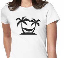 Palms island hammock Womens Fitted T-Shirt