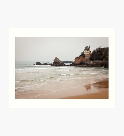 Mysterious Mansion on the Beach Art Print