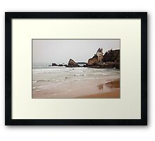 Mysterious Mansion on the Beach Framed Print