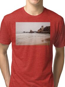 Mysterious Mansion on the Beach Tri-blend T-Shirt
