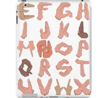 Alphabet with Hands iPad Case/Skin