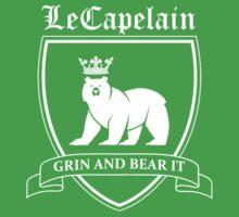 LeCapelain Family Crest (white) Kids Tee