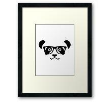 Panda hipster nerd Framed Print